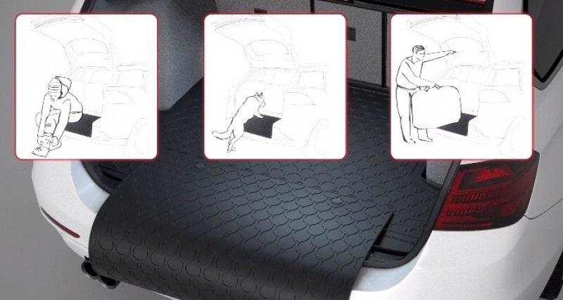 Pезины багажника коврики - Демонстрация использования
